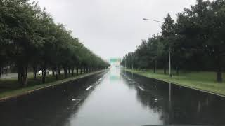 Furacão Irma 10 de setembro ruas vazias