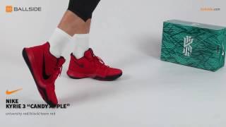 Nike Kyrie 3 Candy Apple on feet