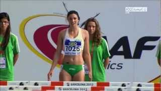 Michelle Jenneke Women's 100m Hurdles sexy dance Barcelona 2012 complete race