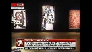 Leiloeira Christie´s cancela a venda dos 85 quadros de Miró