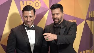 Ricky Martin, Edgar Ramirez and Jwan Yosef at HBO Official Golden Globe Awards After Party 2018