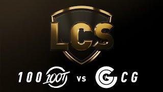 100 vs. CG - Week 3 Day 1   LCS Spring Split   100 Thieves vs. Clutch Gaming Gaming (2019)