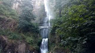 Multnomah Falls Oregon USA 4k