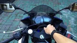 2015 Yamaha YZF-R3 Official Cold Start on Stock Exhaust