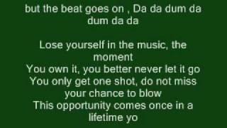 Lose Yourself - Eminem (Lyrics) Linkin Park Remix