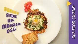 Masala Sunny side up  eggs  Recipe