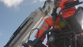 aanbrengen verlichting, barriers en vangrails op de A59 bij Waalwijk