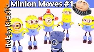 Minion Moves 1 Evil Minion Stewart! Gru Jerry Dave Fireman Move to Beat by HobbyKidsTV