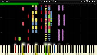 German Military March - Erika Impossible Piano Tutorial with Synthesia