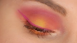 Sunset Halo Eye Makeup Tutorial | Kat Kalel