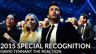 David Tennant's NTA Special Recognition - His Reaction