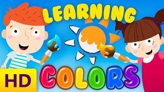 Learning colors for kindergarten children/toddlers