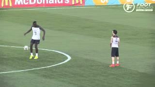Concours de skills entre Valbuena et Pogba à l'entraînement !