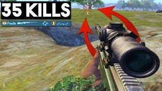 HOW TO NO-SCOPE HEADSHOT WITH AWM! | 35 KILLS Duo vs Squad | PUBG Mobile