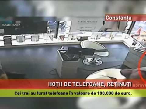 Hoţi de telefoane, reţinuţi