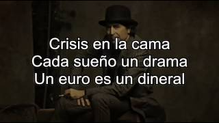 Joaquín Sabina - Crisis con letra (lyric video)