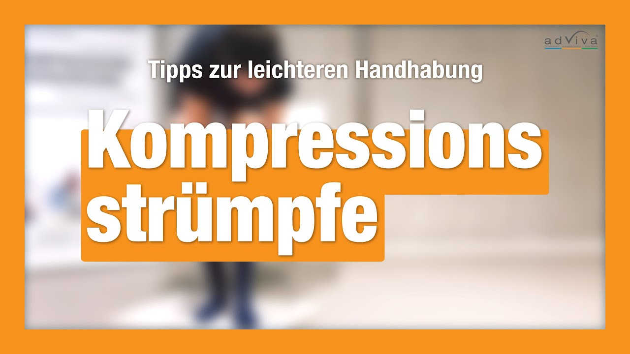 Kompressionsstrümpfe - Anziehtipps