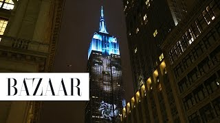 Harper's BAZAAR Cover Stars React to Being Projected on the Empire State Building
