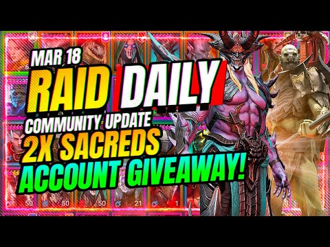 2X SACREDS! STACKED Account Giveaway! | RAID Shadow Legends