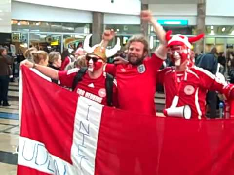 Arrival in Joburg III – Danish fans arriving at O.R, Tambo in Joburg, South Africa