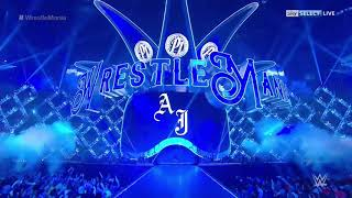 Aj Styles Entrance Wrestlemania 34 ||LIVE REACTION||