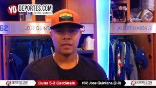 Jose Quintana quiere un anillo de Serie Mundial con los Cachorros de Chicago