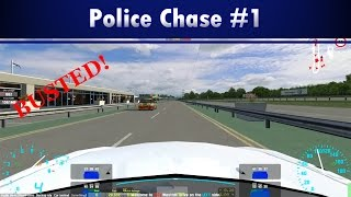 LFS - Live For Speed S2 Online: Police Chase #1 Gameplay!