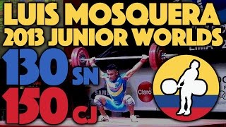 Luis Mosquera (62) - 130kg Snatch / 150kg Clean and Jerk @ 2013 Junior Worlds [~8k60p]