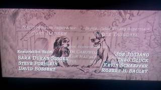 Lady and the Tramp 2006 DVD - Digital Restoration Credits (Widescreen)