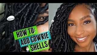 How to: Add Cowrie Shells to Hair or Locs| Goddess Bohemian Locs