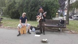 Prince - Kiss (Bowl of Dust & Co. Live Busking Cover in Belgrade)