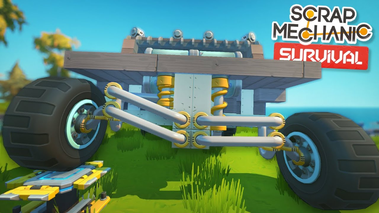 Moonbo - Upgrading to Double Wishbone Suspension! - Scrap Mechanic Survival Mode #35