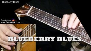 BLUEBERRY BLUES: Fingerstyle Guitar Lesson + TAB by GuitarNick