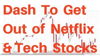 🔴Dash to Get Out of Technology Stocks Nasdaq Index QQQ ETF and Netflix After Earnings