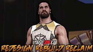 """WWE 2K17: Seth Rollins' Entrance with """"Redesign Rebuild Reclaim"""" Unused Theme by Downstait!"""