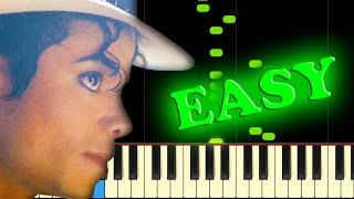 MICHAEL JACKSON - SMOOTH CRIMINAL - Easy Piano Tutorial