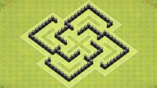 Clash of Clans - Town Hall 5 Defense (CoC TH5) BEST Farming Base Layout Defense Strategy
