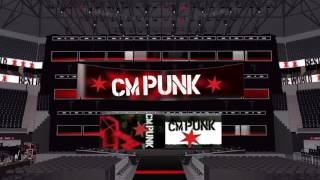 CM Punk's Custom Entrance for 2016 and Theme w/ Arena Effect