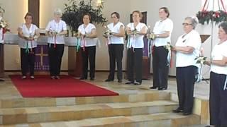 Culto do Idoso, apresentação da Dança Senior.