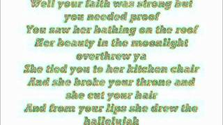 Alexandra Burke hallelujah lyrics
