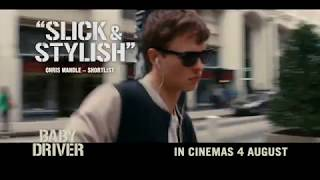 Baby Driver Moves To  Its Own Beat - Watch Now! Ansel Elgort, Jamie Foxx, Kevin Spacey, Lily James