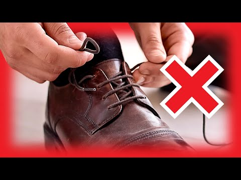 Tying YOUR Dress Shoes INCORRECTLY? | How To EASILY Straight Bar Lace Video Tutorial | RMRS