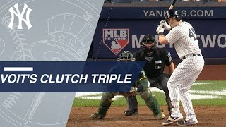 Luke Voit belts a 2-run triple off the wall in the Wild Card Game