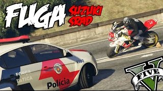 GTA V - FUGA DE Suzuki SRAD | ( Mc Willy   Cavalo de troia )