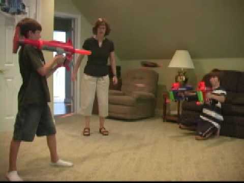 Awesome Nerf Gun Battle