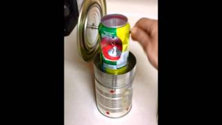 My first homemade soda can Stirling / heat engine