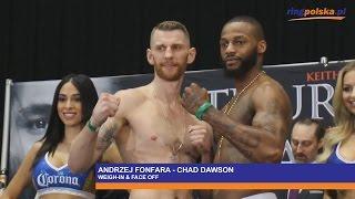 █▬█ █ ▀█▀  FONFARA vs DAWSON: WEIGH-IN & FACE OFF!