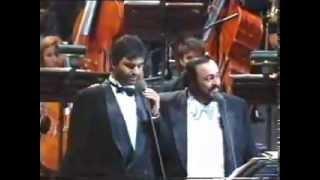 Andrea Bocelli   Luciano Pavarotti Mattinata on stage   YouTube