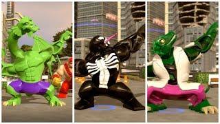 All Big-Fig characters perform Amadeus Cho transform animation (Part 1) - LEGO Marvel Superheroes 2