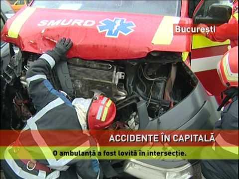 Accidente grave în Bucureşti